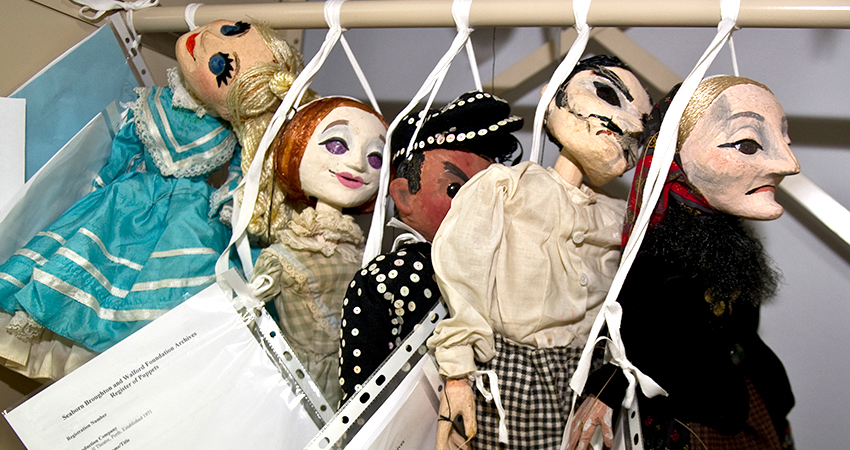 Puppets from the Nutshell Theatre, 1971 Perth.